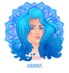 Drawing aquaries astrological sign vector