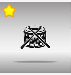 drum black icon button logo symbol vector image