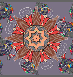 East islam indian motif revival swirling ethnic vector