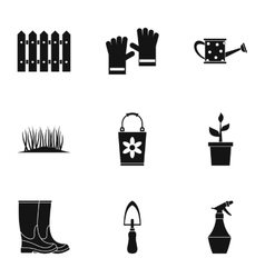 Farm icons set simple style vector