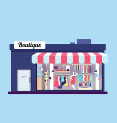 fashion store exterior beauty shop boutique vector image