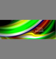 fluid liquid wave pattern vector image