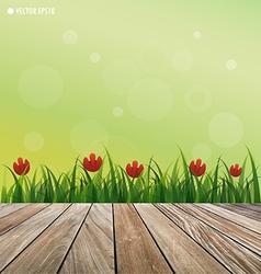 Fresh spring green grass vector image