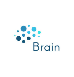 Genious brain abstract blue circles medical and vector