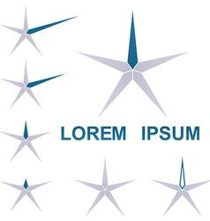 Geometric Star Logo Set vector