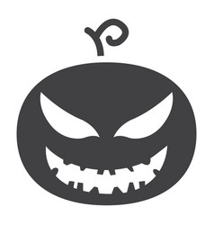 halloween pumpkin glyph icon halloween and scary vector image