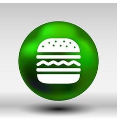 Hamburger web icon burger bun logo vector