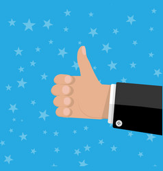 Hand thumbs up gesture vector