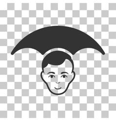 Head Umbrella Icon vector
