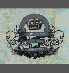 heraldic design vector image