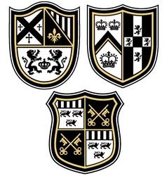 Heraldic emblem crest shield vector