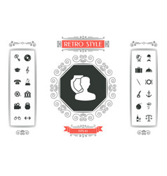 insurance shield with user icon vector image