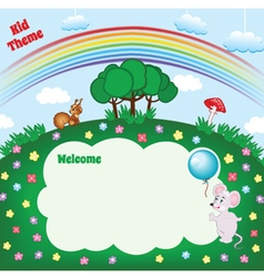 Kid cartoon layout vector image