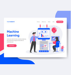 landing page template of machine learning vector image