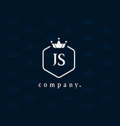 Letter js luxury crown logo vector