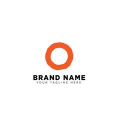 letter o logo design concept minimal vector image