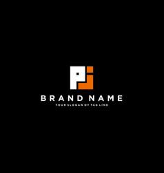 Letter pj logo design vector