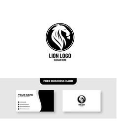 Lion king logo template vector