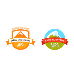 Logo of swiss alps vector