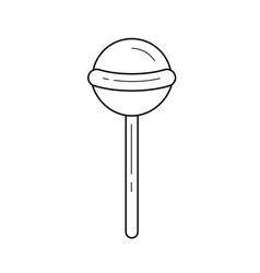 lollipop line icon vector image