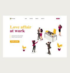 Love affair work colleagues shocked love colleague vector