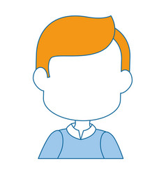 man cartoon profile vector image