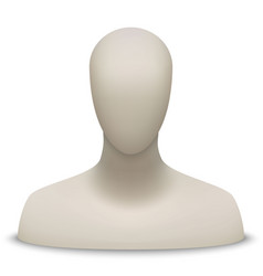 mannequin bust and head vector image