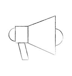 Megaphone talk person vector