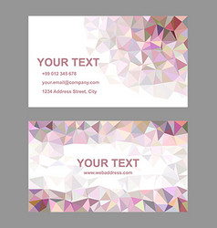 Multicolor triangle design business card template vector image