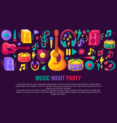 musical festival invitation template vector image