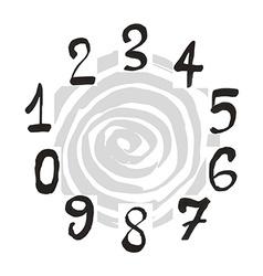 Numerals set vector