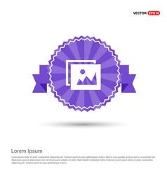 picture icon - purple ribbon banner vector image