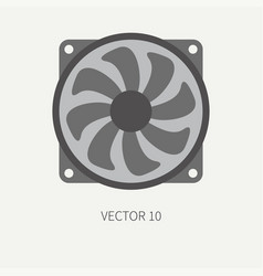 plain flat color computer part icon cooling vector image