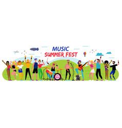 poster for music summer festival open-air vector image