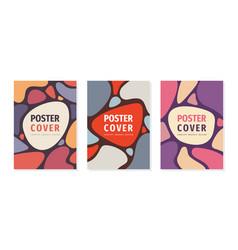 Poster geometric concept design cover book vector