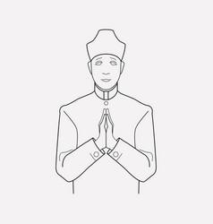 priest icon line element of vector image