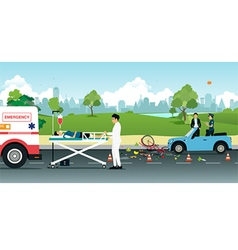 Road accidents vector