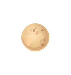 Second planet of solar system venus in flat style vector