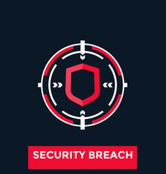Security breach icon vector