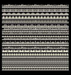Set lace trims vector