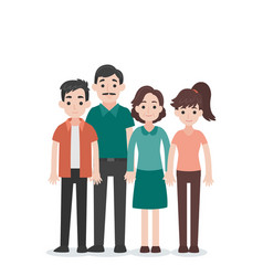 set of people character family concept vector image