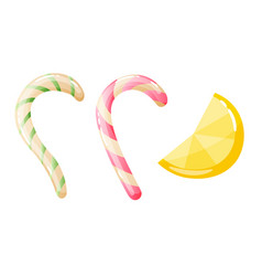 set sweets on white background - hard candy and vector image