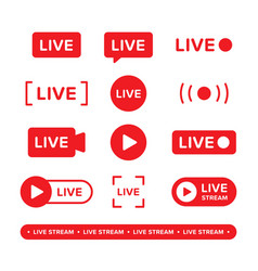 set video broadcasting and live streaming icon vector image