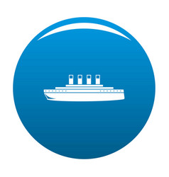 Ship retro icon blue vector