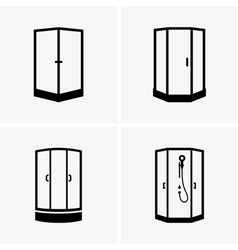 Shower cabins vector image