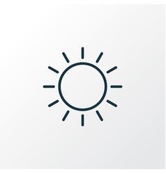 sunny weather icon line symbol premium quality vector image