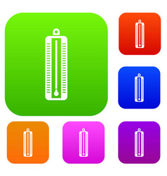 Thermometer indicates low temperature set vector