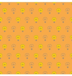 Tile pattern with light bulbs on orange background vector