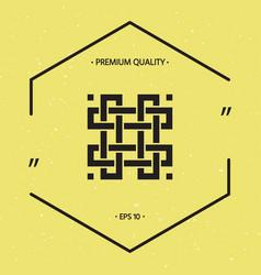 Traditional geometric oriental arabic pattern vector