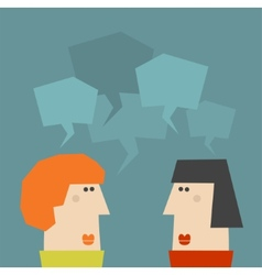 Two talking women vector
